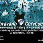 El cumpleaños del club se festeja a lo grande. No podés faltar este Jueves a la gran Caravana Cervecera.  ¡Sumate! http://t.co/meHv8PTrln