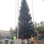 Our Merriment on Main tree going up in #Vacaville! http://t.co/k8C3TqrjCH