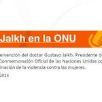 Les invitamos a mirar la intervención del Dr. Gustavo Jalkh en la ONU, desde Nueva York. #nomásviolencia. http://t.co/0bLIg2qEdS