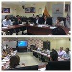 Reunión en @ECU911_ junto a Autoridades Gubernamentales y Concejales AP, acerca de importantes temas para #Guayaquil. http://t.co/8RieGjixOy