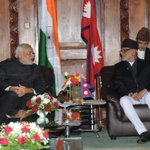 With PM Koirala. We had a very good meeting, discussed ways to strengthen India-Nepal relations. http://t.co/bLhEsNkywy