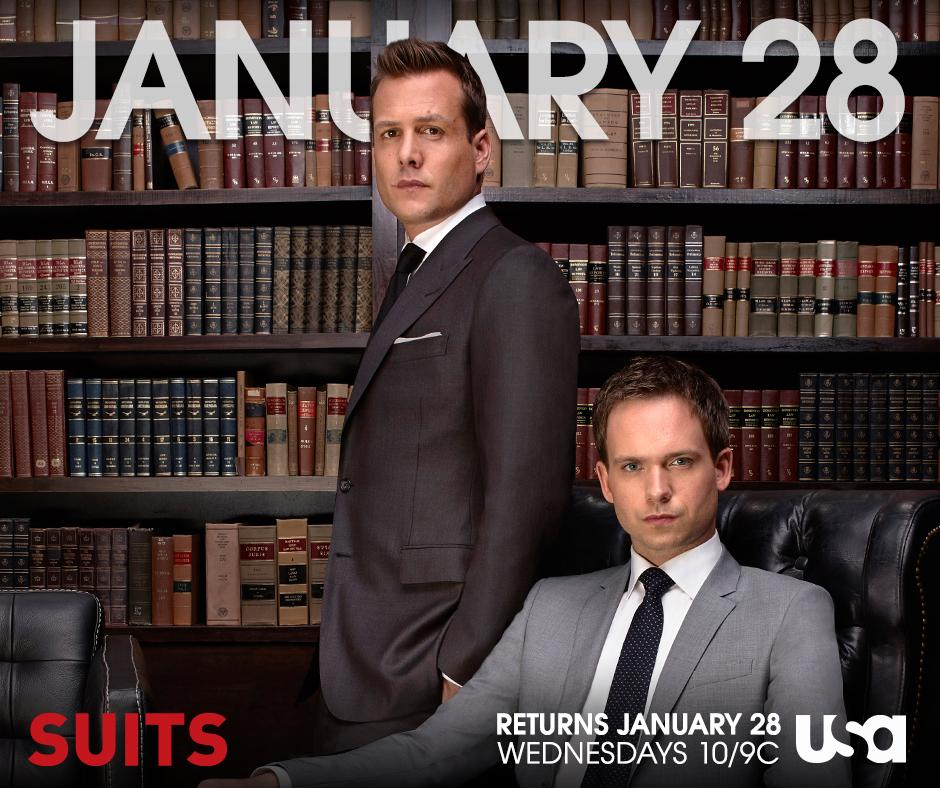 It's the moment you've all been waiting for.  Season Four of #Suits continues Wednesday, January 28 at 10/9c. http://t.co/gGVFZNPUji