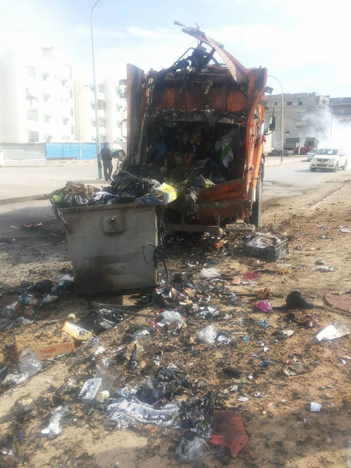 Three garbage collectors were killed after a bomb exploded while collecting the garbage. Benghazi Libya http://t.co/wdYH8bUI6z
