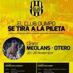 Este fin de semana se viene la @ClinicaMeolans en Olimpo de Bahia Blanca http://t.co/rBrBkvV2Lk