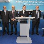 J'inaugure ce matin la représentation de la @MetropoleNCA d'Eco-vallée et de Team Côte d'Azur à Paris http://t.co/6ze9gosaGK