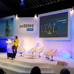 Here she is, @AniBaboomian on #unbounddigital stage talking about the future of #Armenia using #Voiceboard ! http://t.co/mX91CmlXXL
