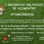 I recogida solidaria de alimentos organizada por @TRojiblanca @TwiterosUDA. Colabora con nosotros y marca #TuMejorGol http://t.co/BXTs2sLiit