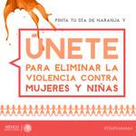 Hoy 25 de noviembre es el #DíaNaranja contra la violencia hacia las mujeres y las niñas @ONU_es @INMUJERES http://t.co/cxVJeUHRyZ
