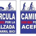Ciclista, las aceras son para los peatones, se prudente puedes lesionar gravemente a los viandantes. http://t.co/EyrUTIp3DW