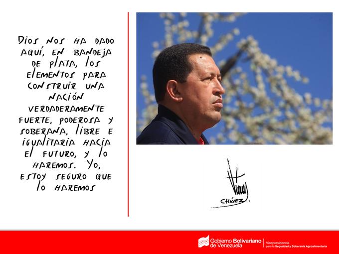 via: VpAlimentaria; #AsíLoDijo el Cmdte. Eterno Hugo Chávez. ¡Tenemos todo para alcanzar ese sueño! http://t.co/YZ2mgRBDay