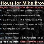 #28HrsForMikeBrown #Ferguson #BlackLivesMatter events in #DC today, including 7pm #DCFerguson rally @ Mt Vernon Sq http://t.co/r10rObDk2b