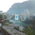 This photo was taken in Mostar earlier today. AMAZING! http://t.co/IvKU8rPprz