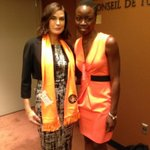 Met the amazing @DanaiGurira who helped honor this day with a lovely reading from her play. #orangeurhood #16days http://t.co/t9RiFf3oG4