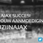 We gaan bijna beginnen aan #psgaja! Laat je horen voor #Ajax! Gebruik hashtag #wijzijnajax!