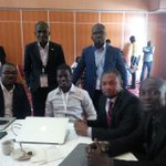 Régis Bamba,Manasse Dehe,JP Ehouman,Thierry Ndouffou,Gérard Konan. Le jury des start up et des appli mobiles.#Awef14 http://t.co/bVyzYGgIea