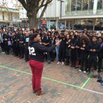 Hundreds of #UNC students, @unc_bsm  walk out of class to stand in silence, solidarity with #Ferguson #mapit http://t.co/w21Elr27Yr