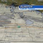Light snow falling now in #Winnipeg, #PortagelaPrairie, #Brandon & #Dauphin. Your forecast ahead on CTV News @ Noon. http://t.co/Bdce4kNsQW