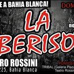 #LaBerisoEnBahia Domingo 30 de noviembre 20hs Teatro Rossini Mitre 225, Bahia Blanca. http://t.co/Os7j6ZbBhU