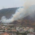Incendio en Cerro Azul (av Perimetral, a la altura de la Espol), reportan a #testigomóvil cc @ECU911_ http://t.co/xMrUxgoEnW