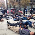 """#Ferguson """"die-in"""" protest at DCs Office of Police Complaints now, via our reporter @chelseasmart13: #DCFerguson http://t.co/R3MpfV4aTY"""