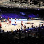 Practice at 3,500-seat Imperial Arena in Bahamas (a converted hotel ballroom). #Sooners #Battle4Atlantis http://t.co/cApwiJBzCb