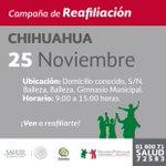 Hoy 25 de Noviembre Campaña de Reafiliación en #Chihuahua ¡Te esperamos! http://t.co/wAWAU6l4xg