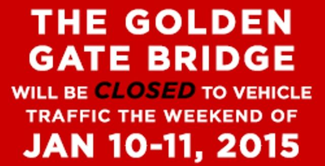 The GGB will close for 52 hrs in Jan. 2015 to install moveable median barrier. Full details: http://t.co/d4I6tY2MTh http://t.co/VICZBxnDt5