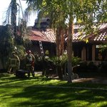 Trees surround this #ranchomirage home that caught fire @MyDesert http://t.co/xJgq9vxrlE
