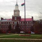Photo: Howard University flies Black Liberation flag at half-mast. http://t.co/DHGt28t4dI http://t.co/BAcVrg5PiO