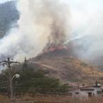Alarma3 de incendio forestal Vía Perimetral a la altura de Los Ceibos @bomberosgye @forestalesgye atiende emergencia. http://t.co/9L8l4weEb7