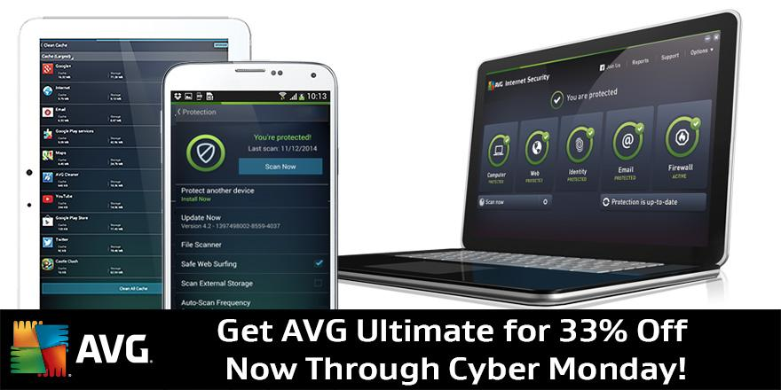 Get AVG Ultimate to protect, clean up & speed up unlimited PC, Mac & Android devices! 33% OFF! http://t.co/U4Z1BiTXMM http://t.co/CAaCVmrvsQ