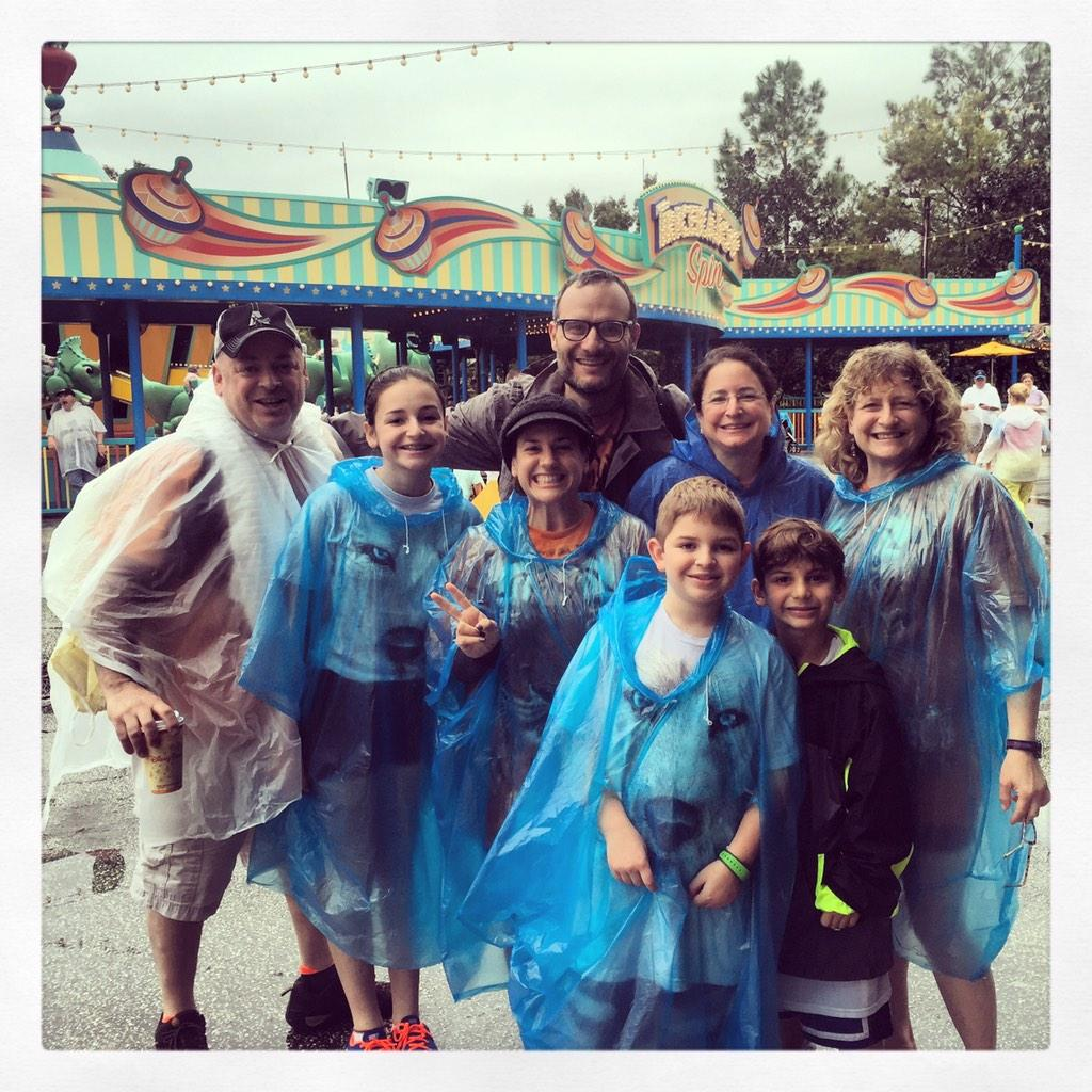 @WaltDisneyWorld what do you do when it's raining #disneyworld YOU put on a poncho and have the best day ever!! http://t.co/EPkS4W7zEF