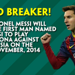 WOW! Lionel Messi is set to break yet ANOTHER record tonight! #Messi #Stats #Wow http://t.co/Dt3vvLuCBc