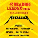 Zanes just revealed that @Metallica will headline @OfficialRandL with @jamietmusic & @WilkinsonUK on the line-up too http://t.co/ScbYY8uw3S