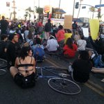 Sitting at king and western. #LosAngeles #mikebrownprotest #MikeBrownVerdict http://t.co/wSSfRP3Wj5