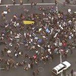 Ferguson decision protesters blocking MLK/Western. Watch live: http://t.co/5lQe9Nrxc8 http://t.co/SVxcgIPQ5e