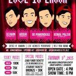 "Live Stand Up Comedy ""Love Is Laugh"" w/  @kemalpalevi @abdurarsyad @gepamungkas @dzawinur | Info: 087851268427 http://t.co/adgSJJHXXK"