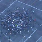 Ferguson protesters in LA shut down intersection of MLK Jr Blvd and Crenshaw Blvd in Leimert Park http://t.co/71u8IXhCDm
