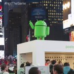 RT @Android: We're enjoying the view from our #TimesSquare digs. Join us–submit your #Android. http://t.co/YYkts2ihH4 #NotTheSame