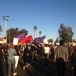 """""""Were fired up and cant take it no mo"""" chanted the crowd of about 300 as they moved west on King Blvd toward USC http://t.co/Rpg2B8Ysl2"""