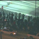 #Ferguson protesters turned off Wheeler onto Cullen & are marching thru the University of Houston campus.#KHOU11 http://t.co/ycXF8PeNNW