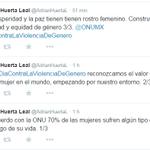 #AsíTuiteó @AdrianHuertaL , presidente de la @CPMXMICH en solidaridad con el #DiaContraLaViolenciaDeGenero http://t.co/YkiMDNKZYr