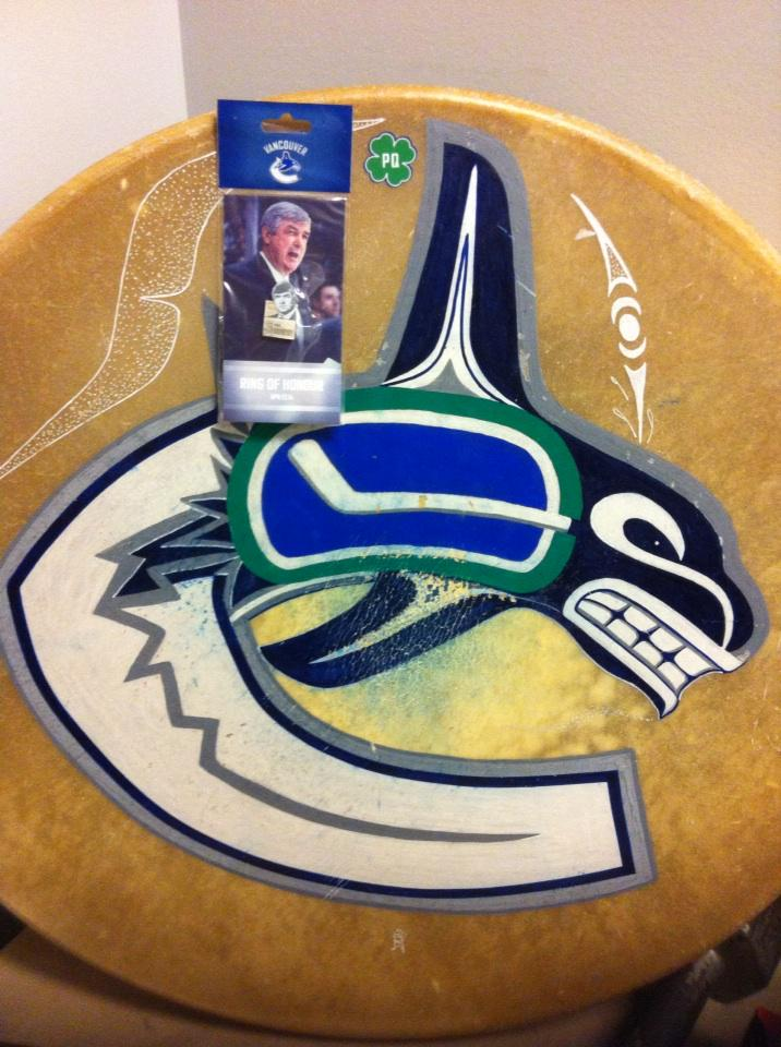 In honor of a great man. Thinking of you Pat Quinn. Go Canucks Go http://t.co/FRFvxTU8dJ