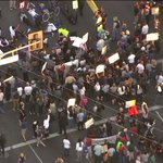 The protesters now blocking intersection of Western Ave. & MLK #Ferguson http://t.co/693BuloAsy