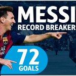 Image: Record breaker Messi #fcblive [via @championsleague] http://t.co/welU9w9EdZ