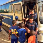 #Illini getting off the bus for a service day at a local orphanage. #IlliniDR http://t.co/YUU5yjlFNM