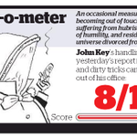 """John Key hits 8 out of 10 in John Armstrongs """"smug-o-metre"""" in todays Herald: http://t.co/mC694SpEdm"""
