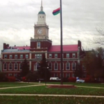 My uni flying the black nationalist flag at half-mast. #Howard #LoveIt when we flying it at @howardlawschool ?! Lol http://t.co/Sq4ioci3Qx