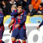 Picture: Suarez celebrating his first goal with Barcelona #fcblive [via @mundodeportivo] http://t.co/ZkeqStlSvo