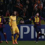 Man of the moment, Lionel Messi, celebrates his 72nd #UCL goal for @FCBarcelona... http://t.co/Ap1WCX4nba